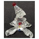 Swarovski Crystal Sitting Clown Puppet Figurine