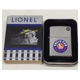 New Zippo Lionel Train Logo Lighter In Tin