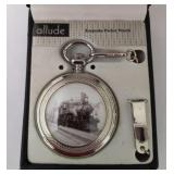 Allude Railroad Quartz Pocket Watch
