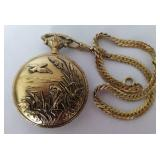 Ever-Swiss Hunting Case Mechanical Pocket Watch