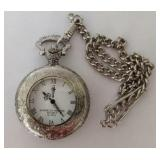 American Historic Society Quartz Pocket Watch