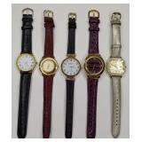 Lot Of 5 Ladies Quartz Watches
