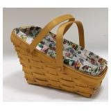 1997 Longaberger Medium Wedge Vegetable Basket
