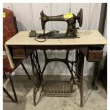 Antique singer sewing machine and stand