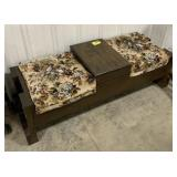 Wooden double seat bench/storage