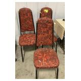 Vintage red floral pattern chair