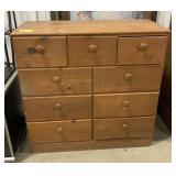 "Wooden dresser measures 35.5""T x 36""L x 15""W"
