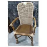Arm chair Bamboo wood & rope wrapped