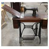 Antique Singer-  sewing machine and table
