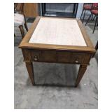 Mid century marble top end table