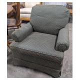 Green pattern sitting room chair