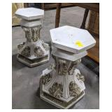 Plaster plant pedestals. Bidding on 1 times the