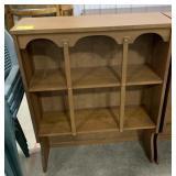 "Wooden shelf for top of dresser measures 41""H x"