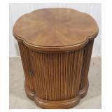 "Oak Decorative Side Table, 21""T x 20""W x 20""D"