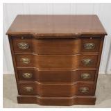 """Wooden 4-drawer dresser, 30""""T x 29 1/2""""W x 17"""