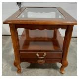 "Living room end table 23""T x 22""W x 27.5""D."