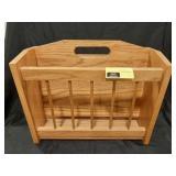 Wood magazine rack