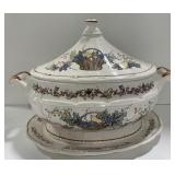 Soup Tureen with Ladel and Base Plate
