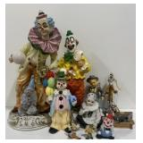 Large Lot of Clown Figurines