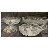 Lot of Crystal Glass Dishes
