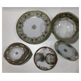 Lot of hand painted Nippon porcelain assorted