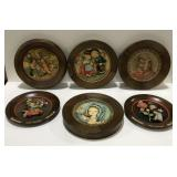 Lot of 6 vtg ANRI painted carved wood decorative