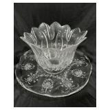 Heisey Elegant Crystal ORCHID Etched serving