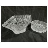 Matching diamond-shaped bowl and matching ash