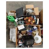 Misc lot of home decor and housewares. Glasses,