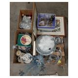 Misc lot of home decor and houseware. Dishes,