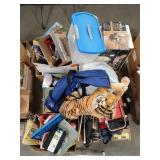 Misc lot of items including toys, stuffed tiger