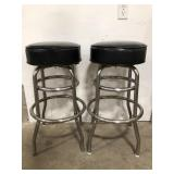 Black padded Metal bar stool. Times the money.