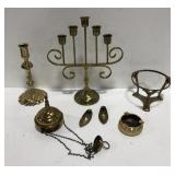 Lot of Fritz brass and gold tone items.