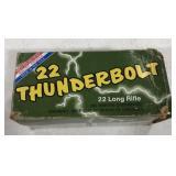 22 Thunderbolt Long Rifle cartridges.