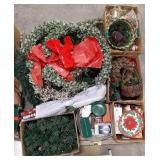 Misc lot of holiday Christmas decor items.