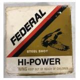 Federal Hi-Power Steel Shot 12 Gauge shotshells.