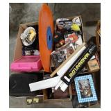 Misc lot including toys, car novelty items, home