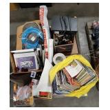 Musc lot of items including magazines, binders,