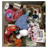 Misc lot of home decor items, craft items,