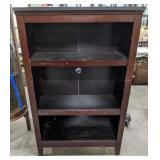 """Pressed wood bookshelf. Measures 48"""" tall, 31"""""""