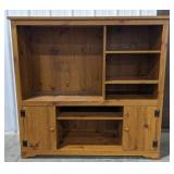 Sauder pressed wood entertainment stand with