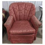 Mauve chanel tufted swivel rocker made by Best