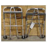 Probasic aluminum folding walker with tags and