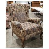 Accent chair, Chevron type upholstery,