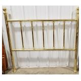Brass head board with frame, full size