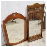 """2 decorative mirrors, heart accent 23""""x32"""", and"""