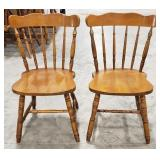 2 Simple wooden colonial style chairs