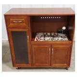 """Rolling microwave cart, approximately 35""""x16""""x35"""""""