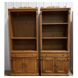2 matching book cases/entertainment shelving