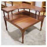 """Corner step table, approximately 32""""x32""""x27"""""""